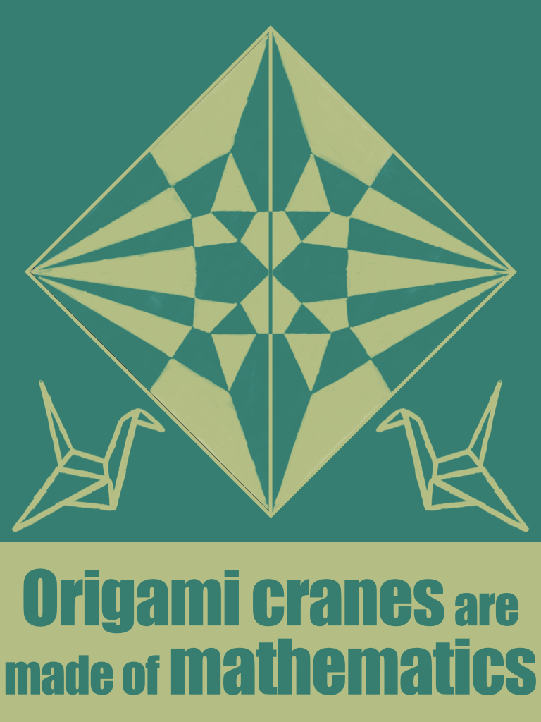 Origami cranes are made of mathematics